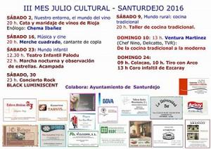 Julio-Mes-Cultural Santurdejo 2016